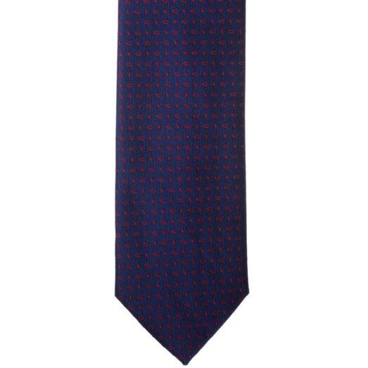 Kék piros pöttyös nyakkendő