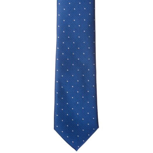 Kék fehér pöttyös nyakkendő
