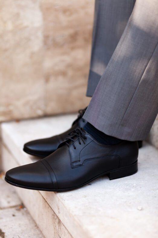 Fekete Alkalmi Bőr Cipő