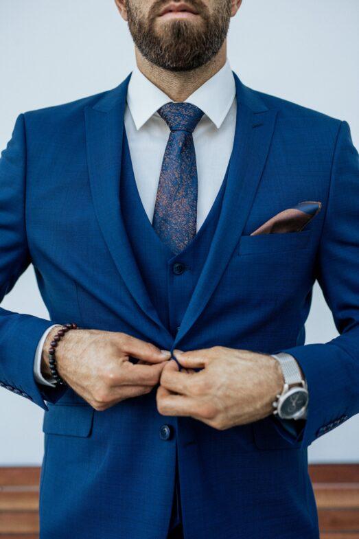 Ralph Redford Közép Kék Slim Fit Mellény
