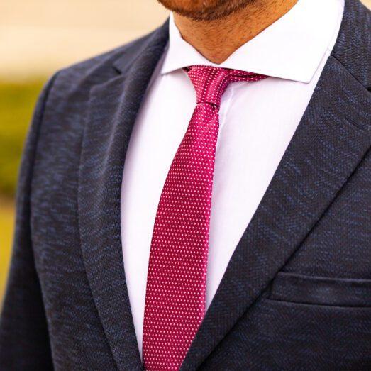 Ciklámen Apró Mintás Nyakkendő