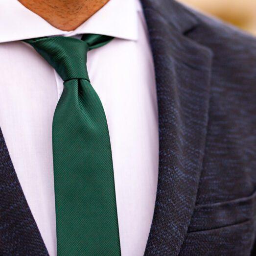 Zöld Anyagában Mintás Nyakkendő