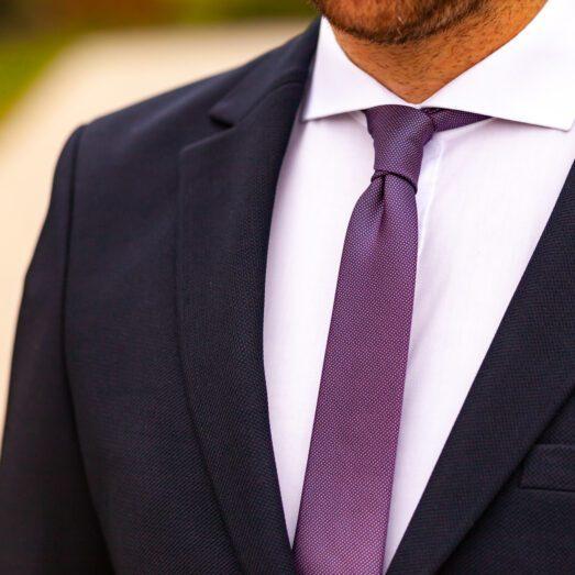 Lila Apró Mintás Nyakkendő