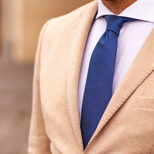 Kék-Fehér Apró Mintás Nyakkendő