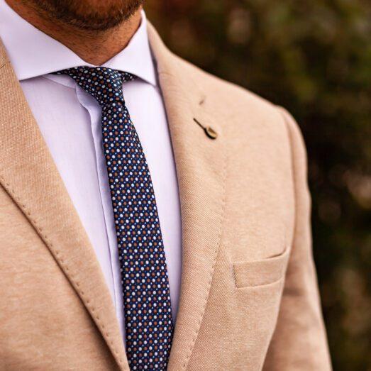 Kék Színes Pöttyös Nyakkendő