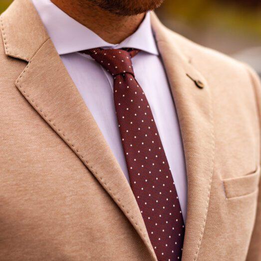 Rozsdabarna Pöttyös Nyakkendő