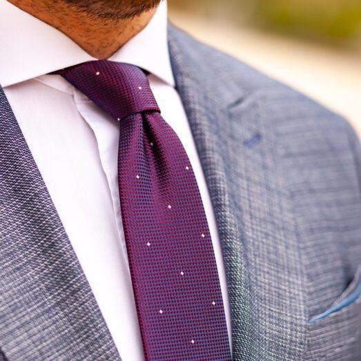 Kék-Piros Apró Mintás Nyakkendő
