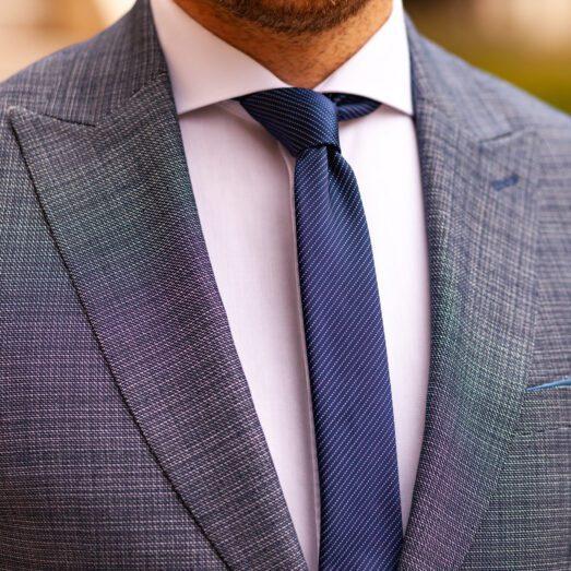 Kék Csíkban Mintás Nyakkendő